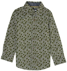 Pepe Jeans Boy Cotton Printed Shirt Green