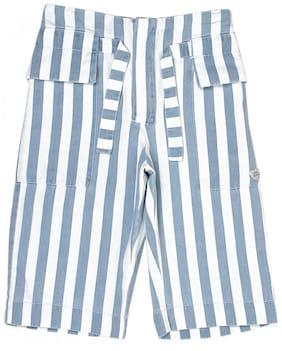Blue Regular Shorts Shorts