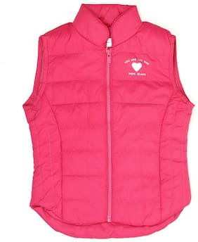Pepe Jeans Girl Polyester Solid Winter jacket - Pink