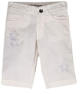 Pepe Jeans Girl Cotton blend Embroidered Regular shorts - White