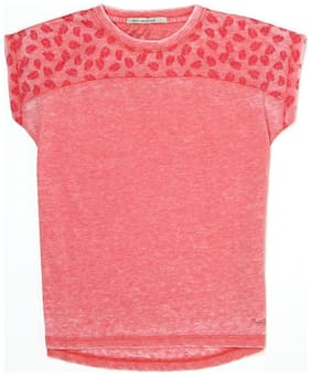 Pepe Jeans Girl Cotton Solid T shirt - Pink