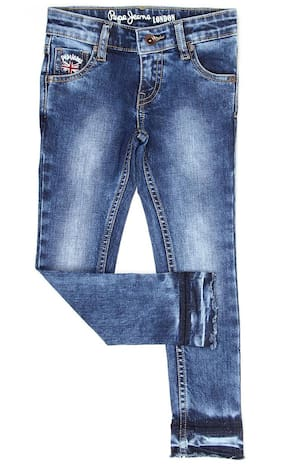 Pepe Jeans Girls Casual Wear Jeans Blue
