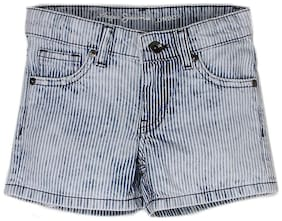 Pepe Jeans Girl Cotton Solid Denim shorts - Grey