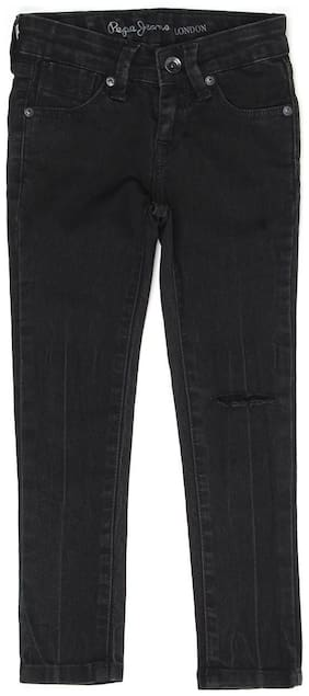 Pepe Jeans Girls Casual Wear Jeans Black