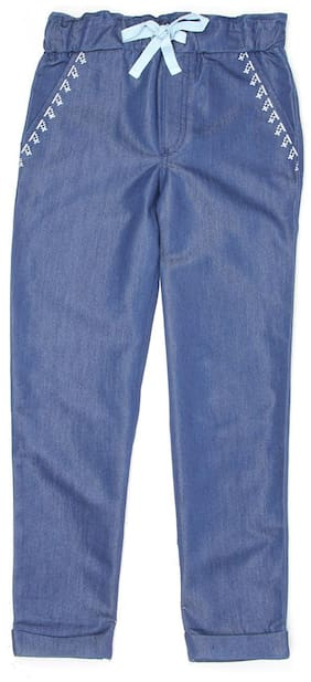 Pepe Jeans Girl Cotton Trousers - Blue