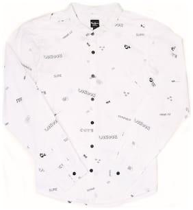 Pepe Jeans Girl Cotton Printed Shirt - White