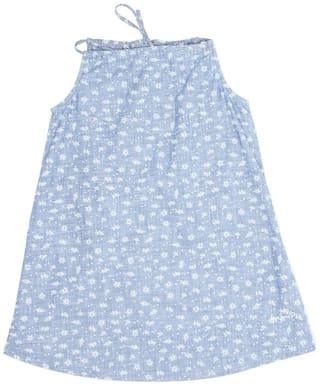 Pepe Jeans Girls Casual Wear A-Line Dress Blue