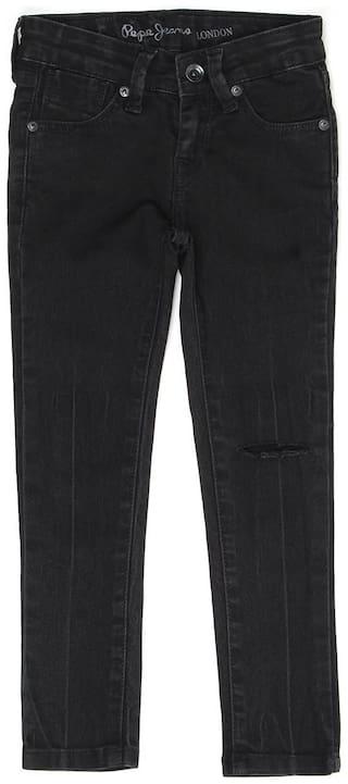 Pepe Jeans Girls Casual Wear Jeans Black