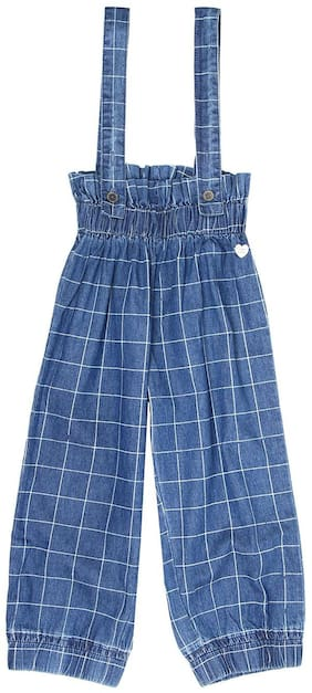 Pepe Jeans Cotton Solid Dungaree For Girl - Blue