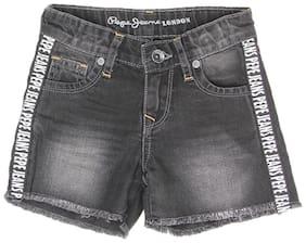 Black Regular Shorts Shorts