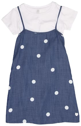 Blue Frock With Bloomer