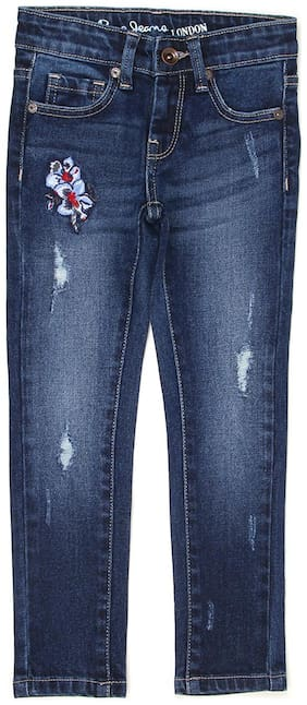 Pepe Jeans Girls Solid Dark Used Jeans