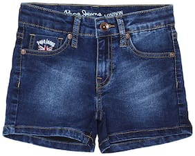 Pepe Jeans Girl Denim Solid Denim shorts - Blue