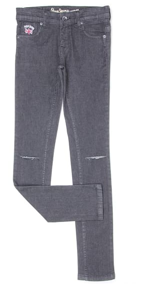 Pepe Jeans Girl Solid Jeans - Grey
