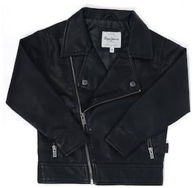 Pepe Jeans Boy Blended Printed Winter jacket - Black