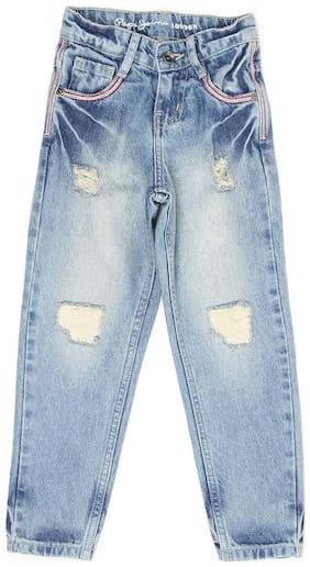 Pepe Jeans London Girls Blue Solid Jeans London (Blue)