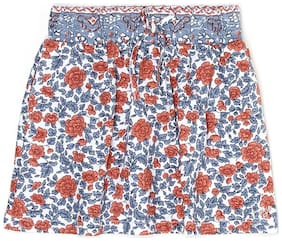 Pepe Jeans Girl Cotton Floral Flared skirt - Multi