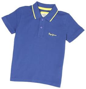 Pepe Jeans Boy Cotton blend Solid T-shirt - Blue
