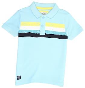 Pepe Jeans Boy Cotton blend Striped T-shirt - Blue