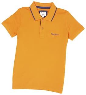 Pepe Jeans Boy Cotton blend Solid T-shirt - Orange