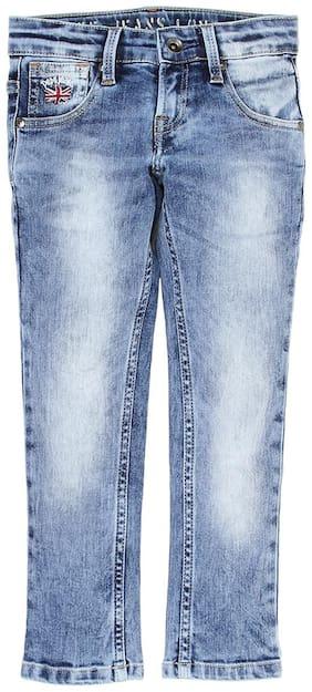 Pepe Kids Boys Blue Solid Jean