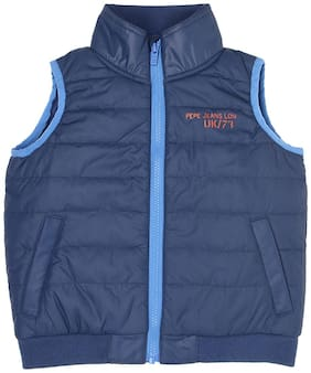 Pepe Jeans Boy Polyester Solid Winter jacket - Blue