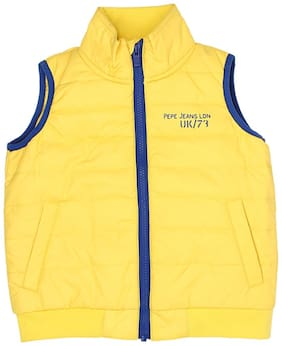 Pepe Jeans Boy Polyester Solid Winter jacket - Yellow