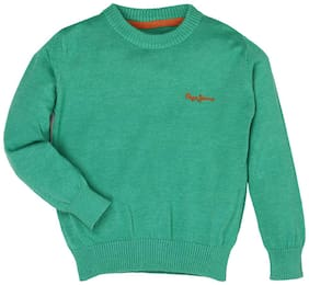 Pepe Jeans Boy Cotton Solid Sweater - Green