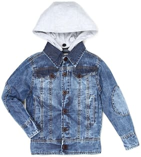 Pepe Jeans Boy Denim Solid Winter jacket - Blue