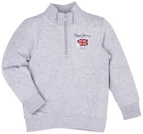 Pepe Jeans Boy Cotton Solid Sweatshirt - Grey