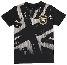 Pepe Jeans Boy Cotton Printed T-shirt - Black