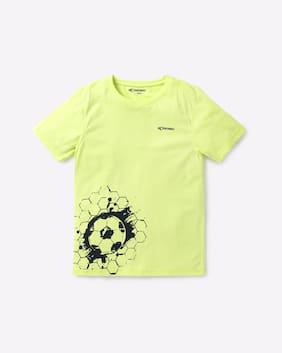 Performax By Reliance Trends Green Boys T-Shirts