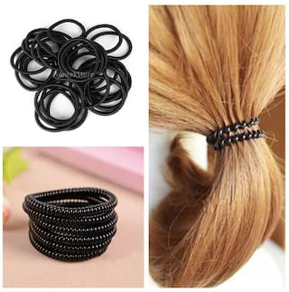 Phenovo 100pcs Elastic Telephone Line Hair Ties Rope Bands Cord Ponytail  Holder 5834430bbd3