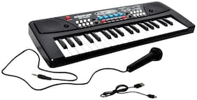Piano (37 Keys) with DC Output Mobile Charging(USB Included)and Microphone