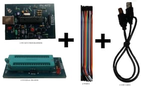 PIC Kit 2 Programmer With Universal Header, USB Cable & 6-Pin Wires