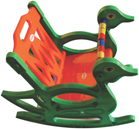 Pihu Enterprises Toy Rocker Kids Chair-Orange & Green