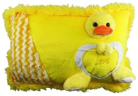 Pikaboo Animated Soft Pillow For Kids With Yellow Duck Face Design