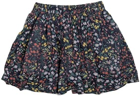 Pikaboo Girl Cotton Printed A- line skirt - Blue