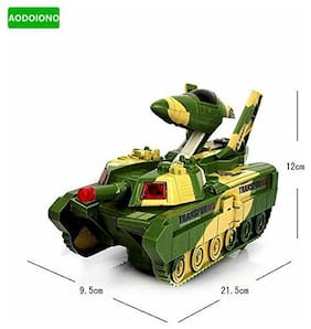 Pikaboo Convertible Fighter Jet & Tank Toy Automatic Deformation 2 in 1 Transformer Toy