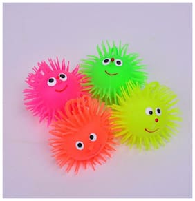 Pikaboo Cute Smile Face Puffer Ball with Flashing Beautiful Light (Assorted)