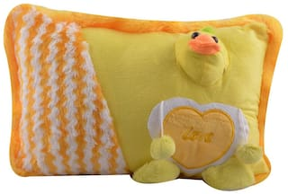 Pikaboo Duckling Design Baby Pillow Cute Bright Yellow Kid's Cushion Attractive Design