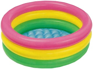 Pikaboo Inflatable Baby Pool Bath Tub With 3 Rings (2 ft)