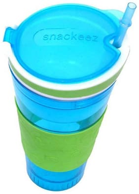 Pikaboo Snackeez Snack Water Bottle 2 in 1 Wonder Bottle Holds Snack & Water At The Same Time