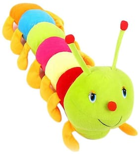 Pikaboo Stuffed Soft Toy Adorably Cute Bright Coloured Caterpiller Fluffy Toy