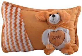 Pikaboo toys Ultra Pillow Adorable Brown Dog Face Design - Brown