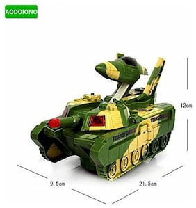 Pikaboo Transformer Toy Convertible Tank & Jet Fighter Airplane With Camouflage Design