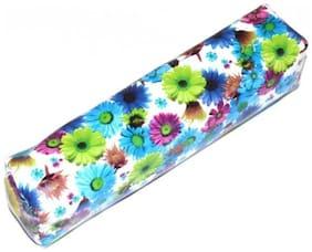 """""""Pin to Pen Flowers Flowers Art Rexine Pencil Box (Set of 1, Multicolour)"""""""