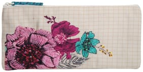 Pinaken Blossom Embroidered & Embellished Multicolor Pencil Pouch