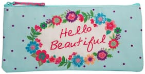 Pinaken Hello Sunshine Embroidered & Embellished Multicolor Pencil Pouch