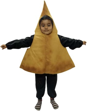 Pink apricot |eatable | junk Food | Samosa Fancy costume dress